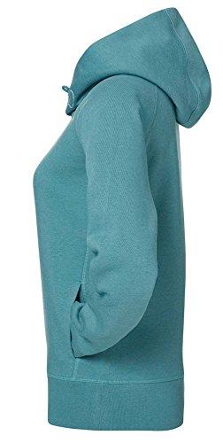 Damen Hoodie, Kapuzenpullover uas 85% Biobaumwolle und 15% Polyester, Damen Bio Pullover, Damen Bio Hoodie, Damen Sweater Baumwolle (Bio), Heather Eucalyptus