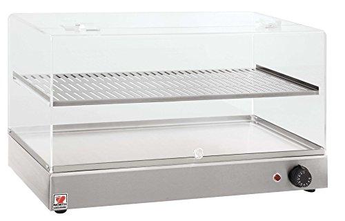 North Pro Gas B70r Beheizte zinntheken Display Einheit für Gebäck–LxBxH: 700x 360x 400mm (Made in Griechenland)