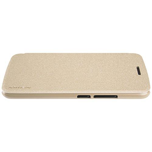 MOTO Z Play Tasche Hülle - Glänzen Flip Schutzhülle für MOTO Z Play - Weiß Gold