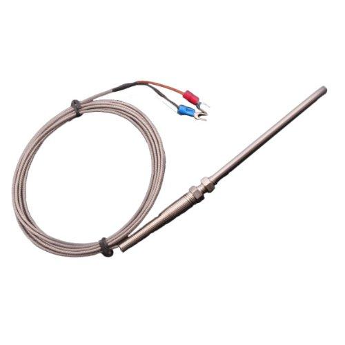 Mall-sonde (BQLZR Neu 3 Meter Hochtemperatur -100 ~ 1250 C Thermoelement Typ K Sensoren 100mm Probe)