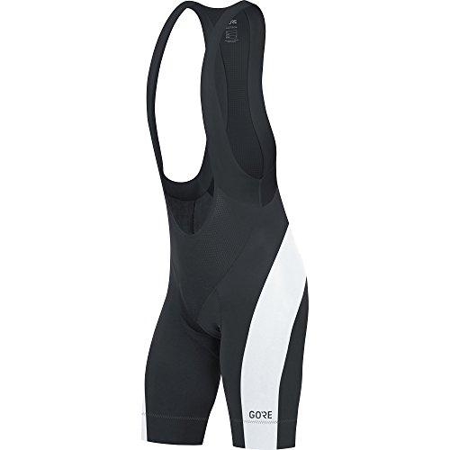 GORE Wear Atmungsaktive, kurze Herren Rennrad-Trägerhose, Mit Sitzpolster, GORE C5 Bib Shorts+, Größe: M, Farbe: Schwarz/Weiß, 100192 (Mountain Bike Bib Shorts)