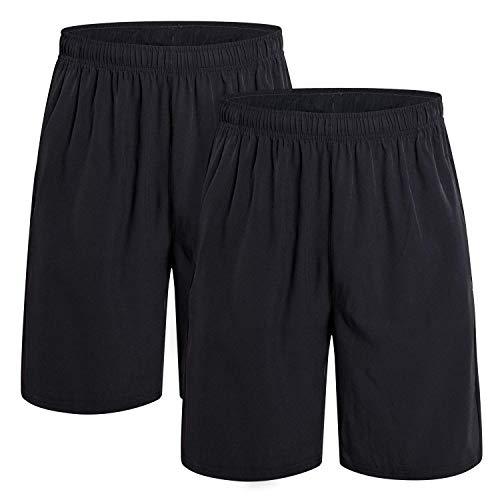 Spandex Workout Shorts (CAMEL CROWN Herren Shorts Kurze Hose Schnell Trocknend Atmungsaktive Sporthose Taschen Männer Running Fitness Gym Sport Shorts mit Kordelzug Training Shorts)