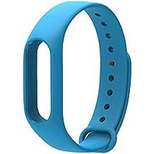 COOSA Correa de Recambio Brazalete Extensibles coloridos impermeables para reemplazo Pulsera XIAOMI Wireless Recambio para Pulsera Inteligente XIAOMI MI band 2 (sin Rastreador de actividad) (azul, para xiaomi pulsera inteligente 2)