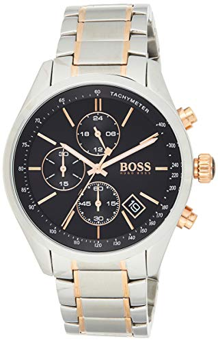 Hugo BOSS Homme Chronographe Quartz Montres bracelet avec bracelet en Acier Inoxydable - 1513473