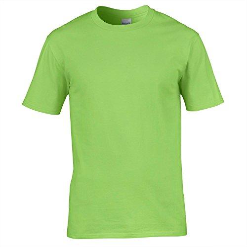 Gildan Premium Baumwollt-shirt - 20 Farben - Sml-2XL - Lime - L (Klasse Ringe 2013)