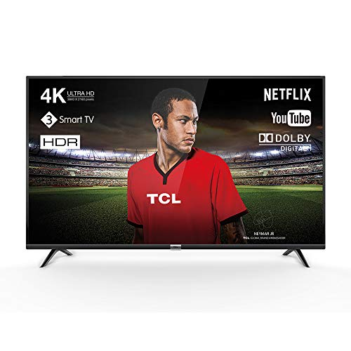 TCL 43DP602 televisore 43 pollici (Smart TV, 4K UHD, HDR, Dolby Digital Plus, T-Cast, Triple Tuner) Nero