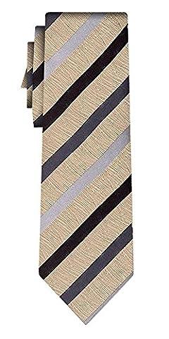 cravate soie rayée linen texture stripe mustard
