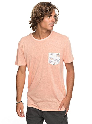 Quiksilver Broken Leash - Pocket T-Shirt - Pocket-T-Shirt - Männer - M - Orange (Orange Pocket T-shirt)