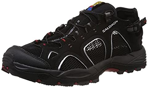 Salomon Techamphibian 3, Chaussures Multisport Outdoor homme, Multicolore (Black/autobahn/flea), 44 2/3 EU