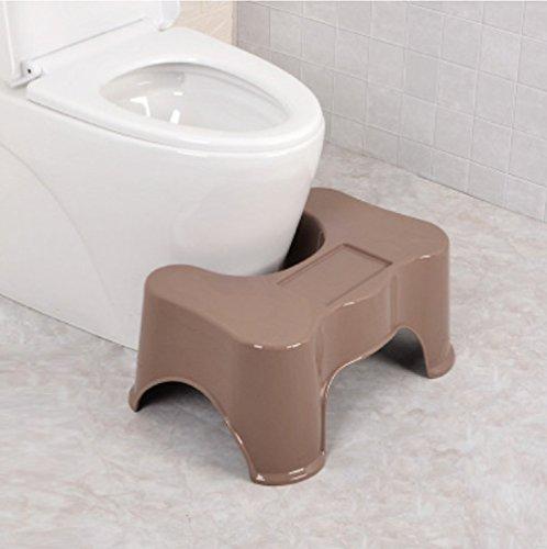 GPF Senioren/Schwanger / Kinder Antirutsch-Hocker Multifunktions-Hocker/WC Kunststoff Fußhocker (Weiß/Pink / Braun),Brown -