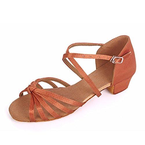 Wuyulunbi@ ballo latino scarpa acrobatico solo scarpe da ballo Bambino profondo nodo della