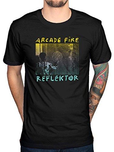 arcade-fire-maglietta-ufficiale-reflektor-funeral-bible-suburbs-the-neon-nero-medium