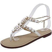 60c14b275f9b3 PAOLIAN Sandalias de Vestir para Mujer Verano 2018 Sandalias de Bohemia con  Diamante Suela Blanda Zapatos