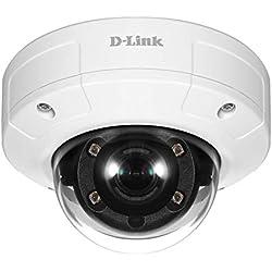D-Link DCS-4605EV Vigilance. Caméra Dome PoE 5 Megapixel Extérieure anti vandale - IP66 - IK10 - H.265 HEVC, H.264, MJPEG - vision de nuit 20 mètres (smart IR)