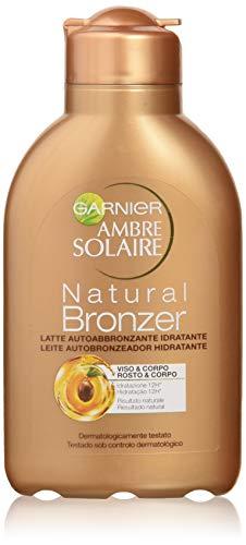Garnier Ambre Solaire Crema Solare Abbronzante Natural Bronzer Latte Autoabbronzante Idratante con Olio di Albicocca 150 ml