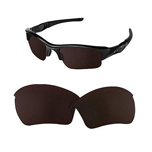 sunglasses restorer Ersatzgläser Kompatibel für Oakley Flak Jacket XL, Polarisierte Blak Iridium