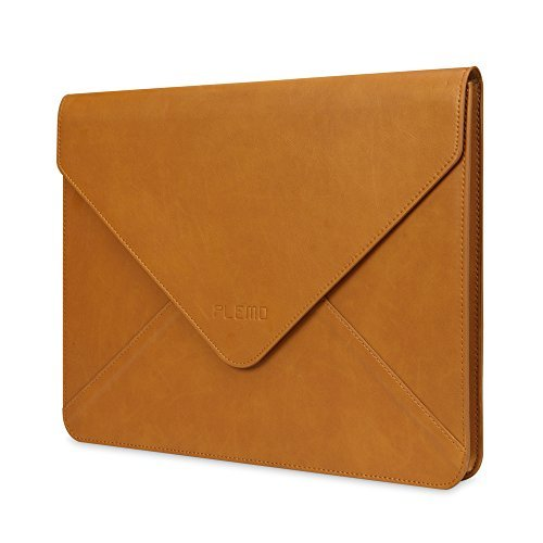 Plemo - Custodia in pelle PU per iPad Pro/MacBook Air/MacBook Pro/Notebook/ultrabook/Chromebookda13-13,3 pollici, marrone