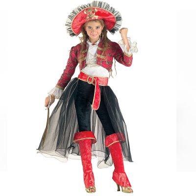 Aptafêtes- Belle Corsaire Costume, CS20706/12, Multicolore, 12 Ans