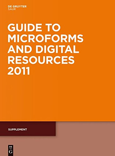 Guide To Microforms Dig. Res. 2011 Supplement Gmdr Su (Guide to Microforms in Print Supplement)