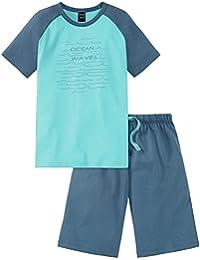 Schiesser Jungen Zweiteiliger Schlafanzug Maritim Anzug Kurz