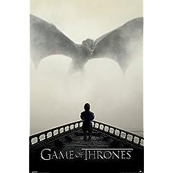 """Póster Game of Thrones/Juego de Tronos """"A Lion & a Dragon/Un León y un Dragón"""" (61cm x 91,5cm)"""