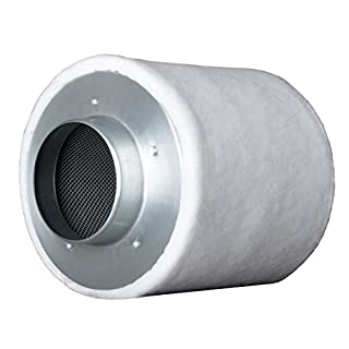 Prima Klima ECO Line (160-m³ - 240-m³ 100-mm Flansch AKF Aktivkohle-Filter Luft-Filter Geruchsfilter Abluft-Filter Grow Filter für Rohrventilatoren vers. Größen inkl. Greenception Anzucht-Dünger