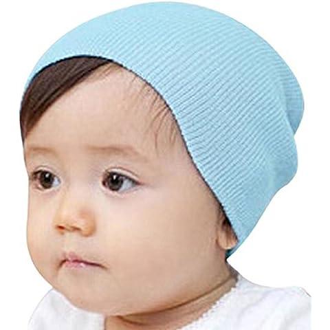 Koly® Bebé Beanie Sombrero - Niños Gorra de invierno cálido (Azul Claro)