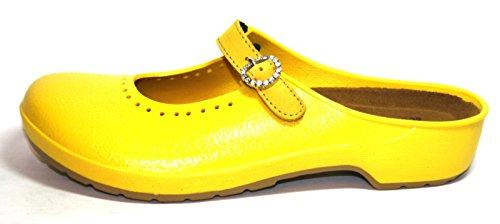Naot Mika 16000 Damen Bade Pantoletten Gelb (Yellow)