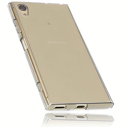 mumbi Schutzhülle für Sony Xperia XA1 Plus Hülle transparent schwarz