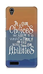 AMEZ our choices show what we are Back Cover For Lenovo A3900