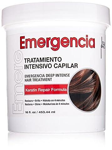 Toque Magico Emergencia 16oz/453ml – Masque capillaire de soin profond et intensif à la Kératine pour cheveux secs, colorés, permanentés, décolorés, frisés ou abimés par la chaleur