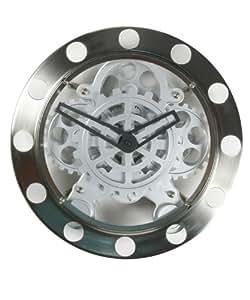 invotis horloge murale engrenages visibles. Black Bedroom Furniture Sets. Home Design Ideas