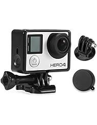 Carcasa Protectora Luxebell Marco Frontera Soporte para GoPro Hero4 3 + 3 - Carcasa Ligera y Compacta para la Cámara de Acción - Negro