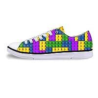 ASILAX& Fashion Check Womens Girls Canvas Low Top Sneakers Shoes Casual Trainers Pumps C3916AP UK 8 \u002F EU 41
