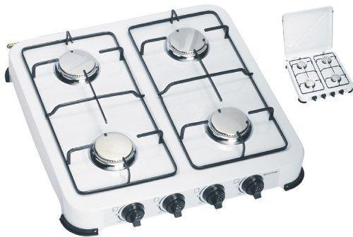 Gaskocher 4-flammig mit Edelstahlbrenner 50 mbar, ideal für die Campingküche oder Outdoorküche