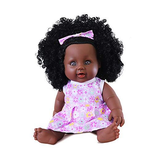 1PC 12 Pulgadas Simulación Del Bebé Del Juego Del Juguete De Silicona Realista Muñecas Muñecas Negro Afroamericano Renacido Las Muñecas Del Bebé De Los Niños De Vacaciones Regalo De Cumpleaños