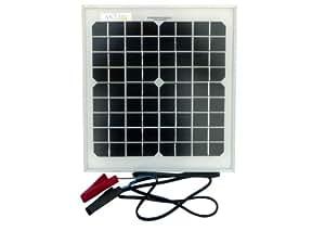 AKT Solar Batterieladegerät mit Solarmodul und Abgreifklemmen (10 W)