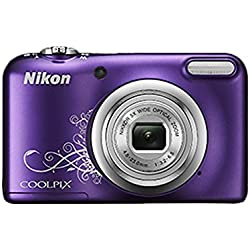 Nikon Coolpix A10 Point and Shoot Digital Camera (Purple) with 16GB SDHC Memory Card, Rechargeable Battery & Charger and Camera Case
