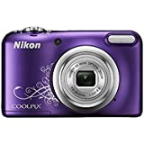 Nikon Coolpix A10 Point and Shoot Digital Camera (Purple) with 16GB SDHC Memory Card, Rechargeable Battery, Charger and Camera Case