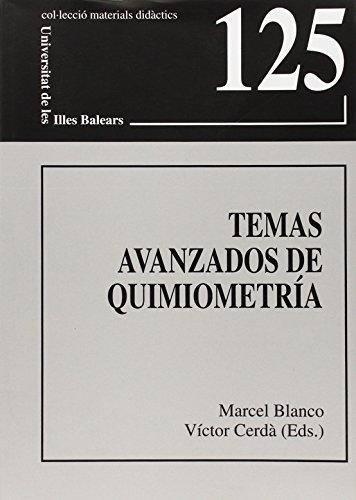 Temas avanzados de quimiometría (Materials didàctics)