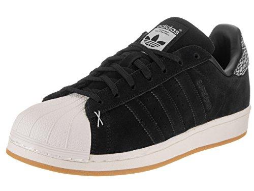 Adidas Superstar Hommes Cuir Baskets Cblack-Cblack-Owhite