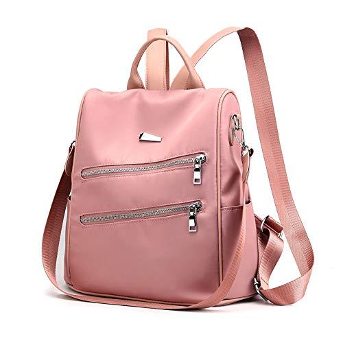 Beauty Case da Viaggio BorsaZaino da viaggio impermeabile moda femminile ragazza selvaggia zaino casual Oxford rosa
