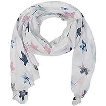 65589004d9190d Zwillingsherz Seiden-Tuch Damen Stern Muster - Made in Italy - Eleganter  Sommer-Schal
