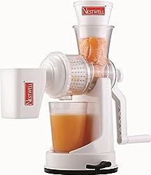 Lemish Nestwell Plastic Vegetable Fruit Hand Juicer (White)
