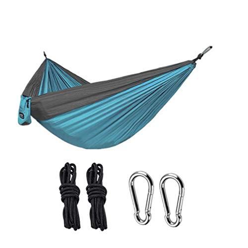 Cenphua Hamaca 2 Personas, Hamaca Ultra Ligera para Viaje y Camping, Nylon Transpirable Hamacas de Jardín Piscina Campaña Exterior Viaje Senderismo, 300 x 200 cm, 500KG