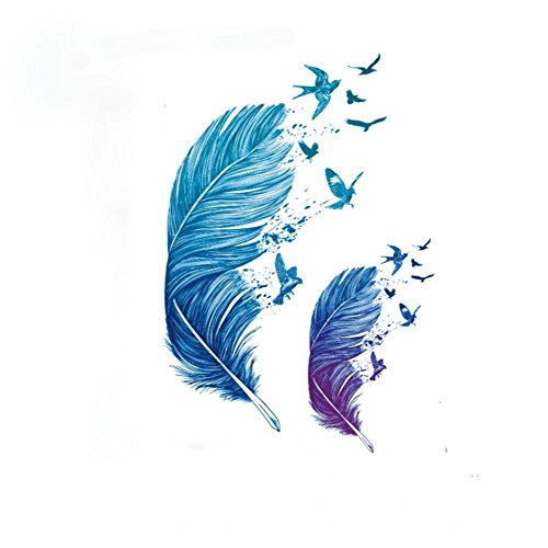 pengweiwaterproof-tattoo-stickers-color-feathers-personalized-tattoo-stickers
