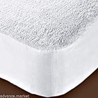 Protector de colchón de rizo impermeable Lujo Solo doble King size 4ft, matrimonio grande