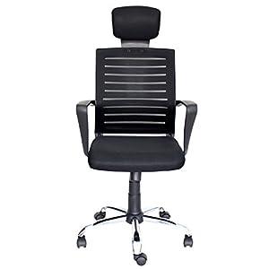 Silla de oficina con respaldo alto de alta potencia, diseño de malla ergonómico, giratoria, altura ajustable