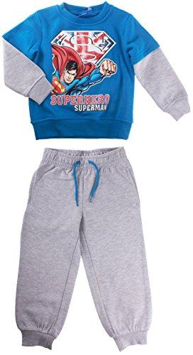 Jogging, felpa da ragazzo, motivo: Superman, da 3 a 8 mesi Blu/Grigio - Cosmic blue/High Rise Grey
