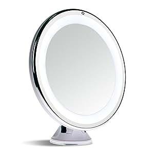 sanheshun 7 fach vergr erung led licht reise make up spiegel kompaktspiegel spiegel mit. Black Bedroom Furniture Sets. Home Design Ideas
